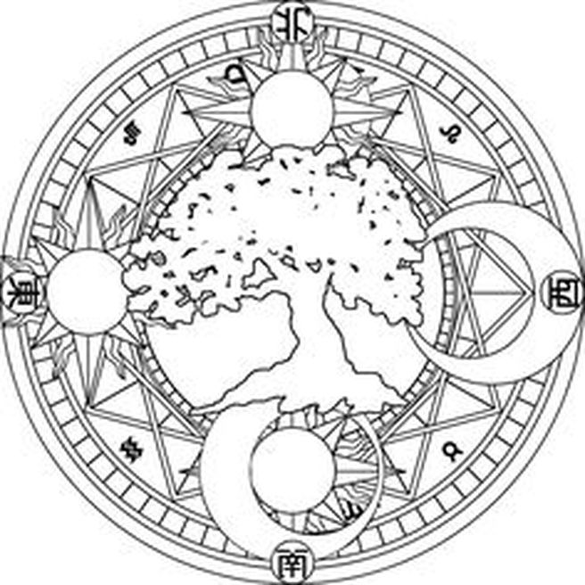 Wiccan coloring #6, Download drawings