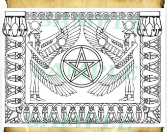 Wiccan coloring #1, Download drawings