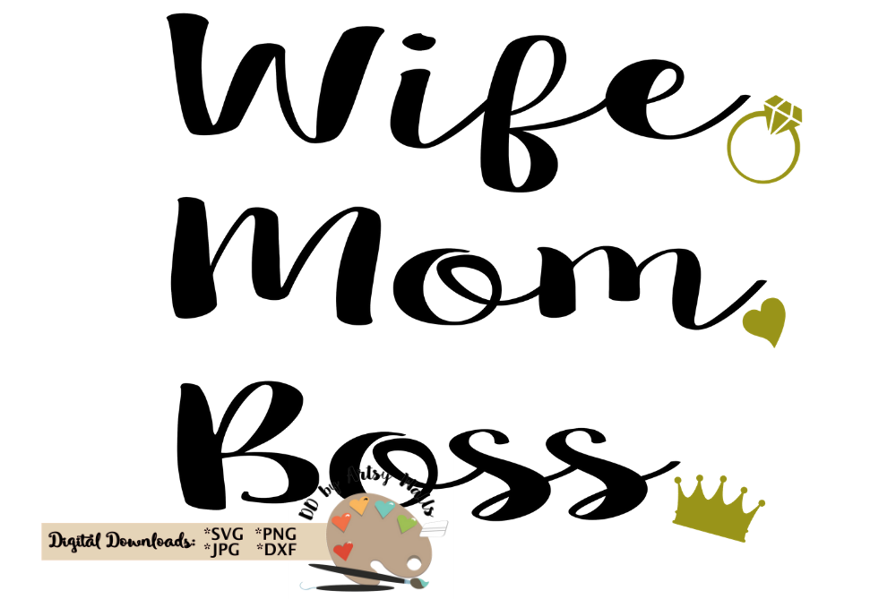 wife mom boss svg #885, Download drawings