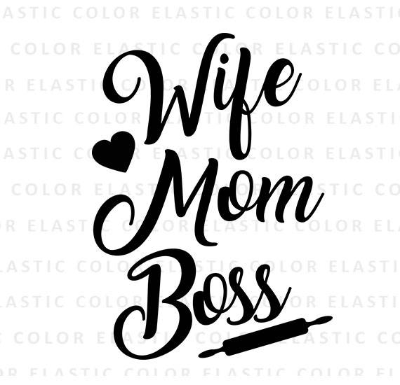 wife mom boss svg #883, Download drawings