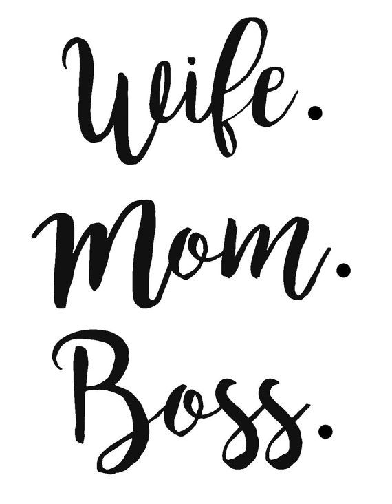 wife mom boss svg #880, Download drawings