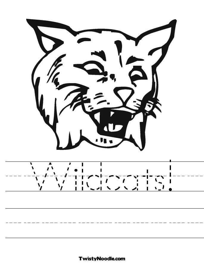 Wildcat coloring #10, Download drawings
