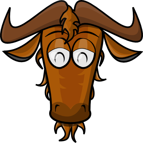 Wildebeest clipart #2, Download drawings