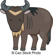 Wildebeest clipart #16, Download drawings