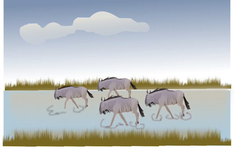 Wildebeest svg #3, Download drawings