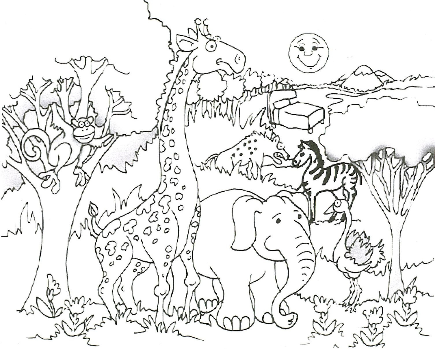 Wildlife coloring #1, Download drawings