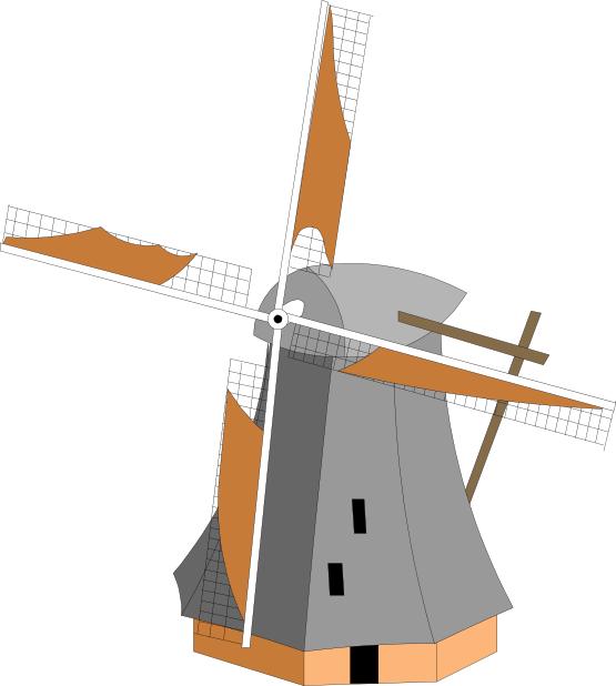 Windmill clipart #2, Download drawings