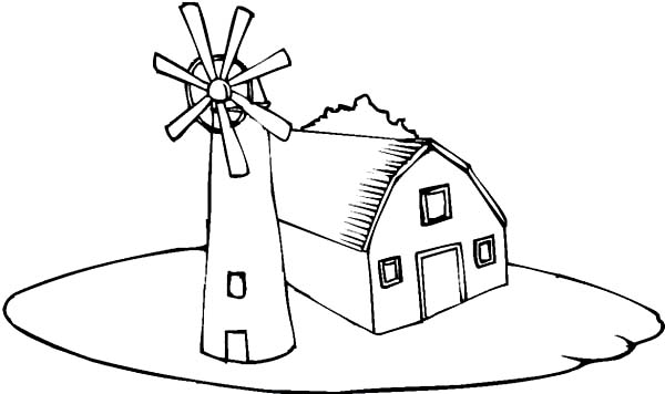 Windmill coloring #6, Download drawings
