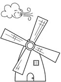 Windmill coloring #3, Download drawings