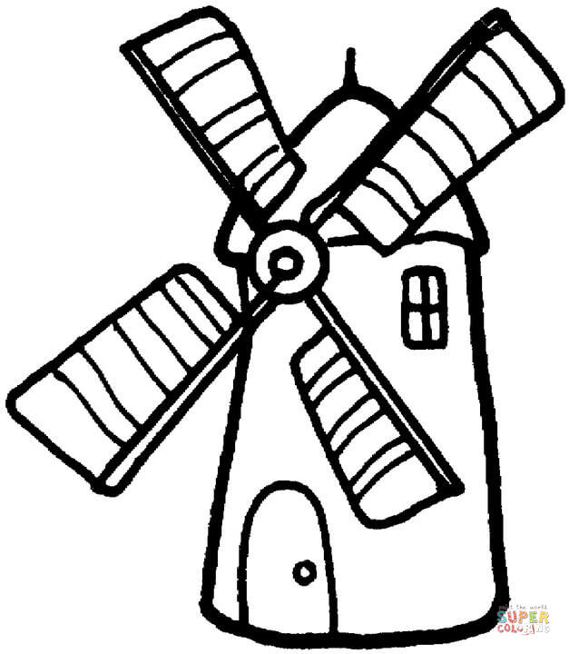 Windmill coloring #5, Download drawings