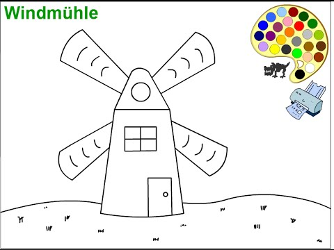 Windmill coloring #18, Download drawings