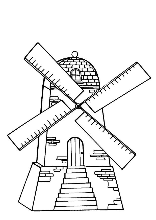 Windmill coloring #12, Download drawings