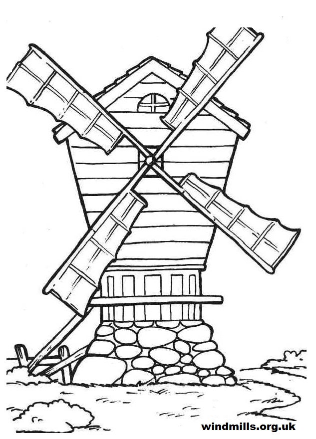 Windmill coloring #17, Download drawings