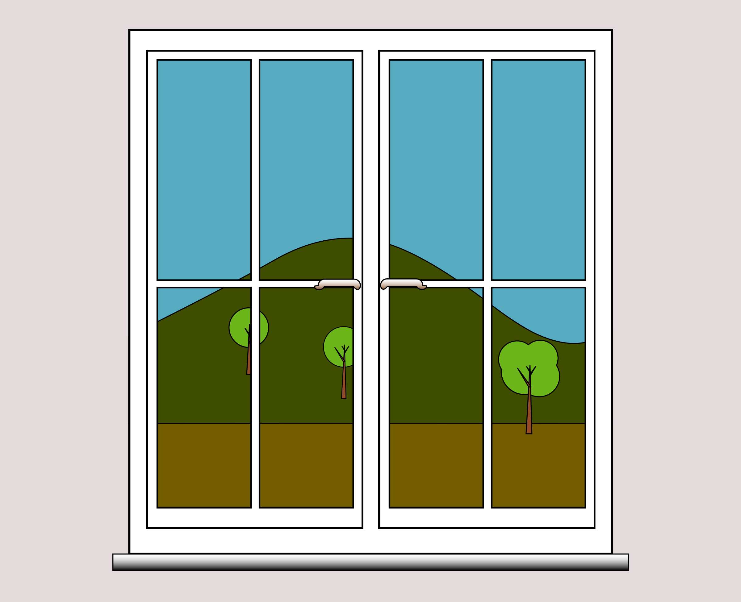 Window clipart #2, Download drawings