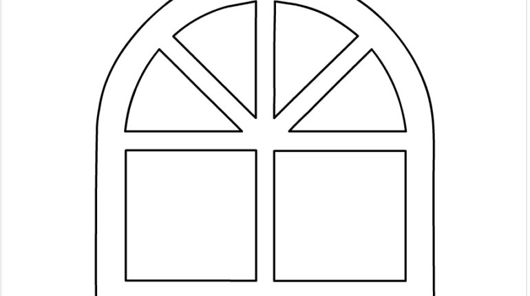 window frame coloring pages - photo#4