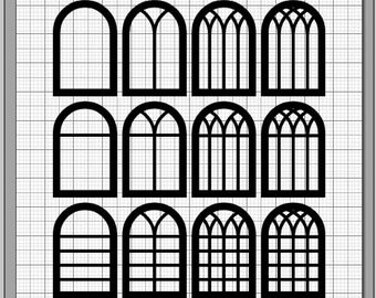 Window svg #581, Download drawings