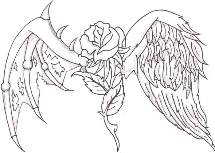 Wings coloring #2, Download drawings
