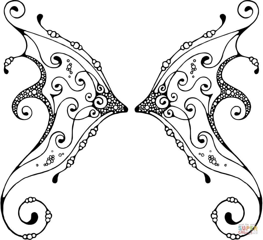 Wings coloring #11, Download drawings