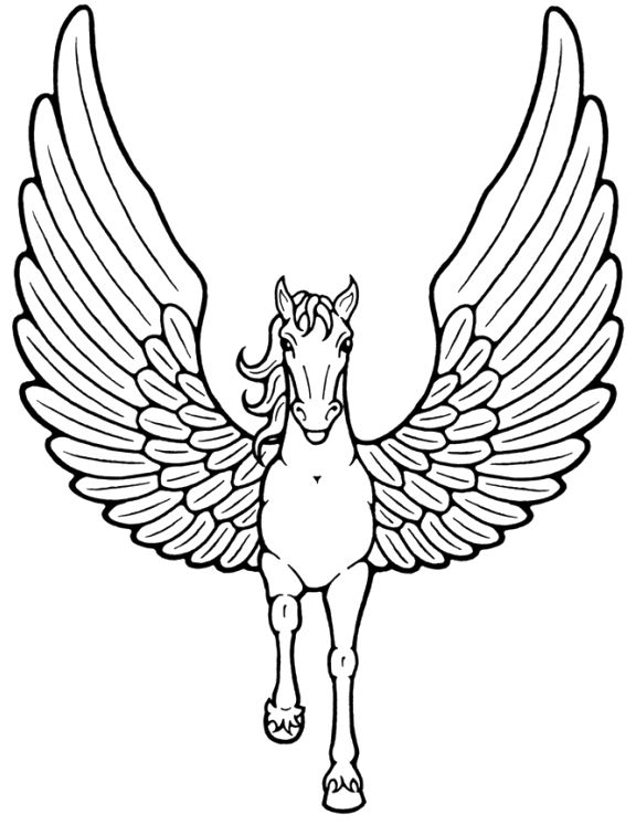 Wings coloring #4, Download drawings