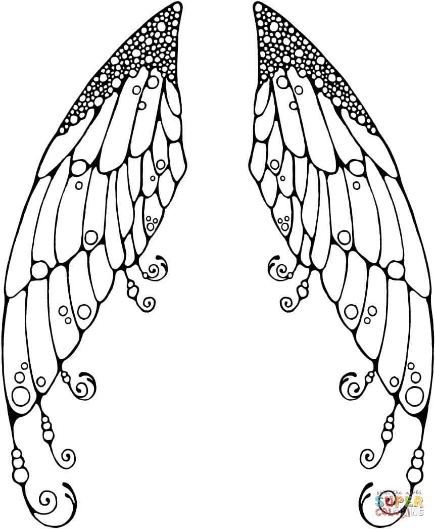Wings coloring #14, Download drawings