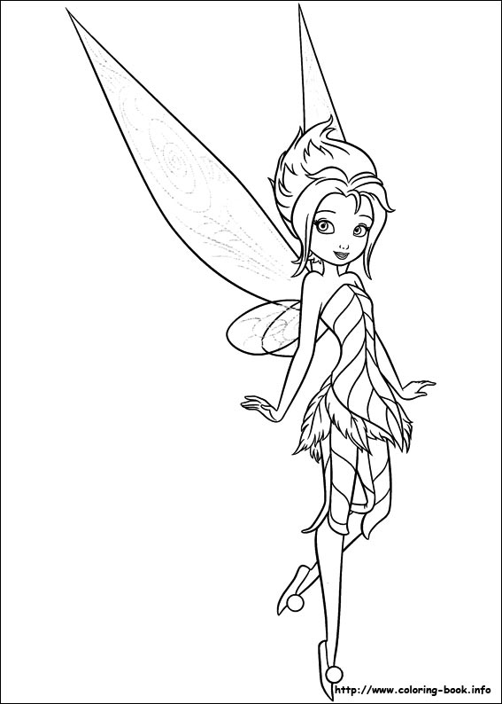 Tinker Bell coloring #7, Download drawings