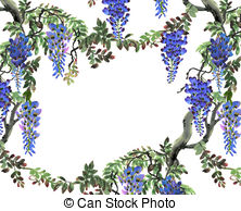 Wisteria clipart #7, Download drawings