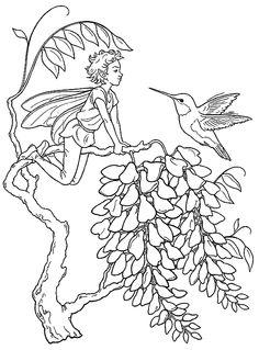 Elf Fairy coloring #17, Download drawings