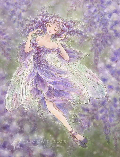 Wisteria coloring #7, Download drawings