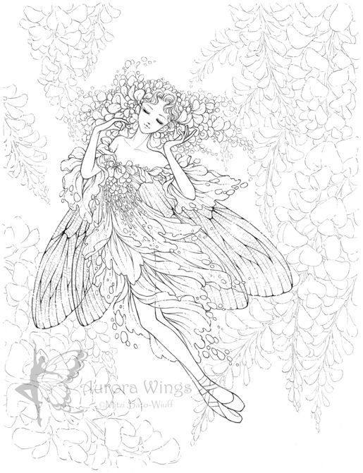 Wisteria coloring #13, Download drawings
