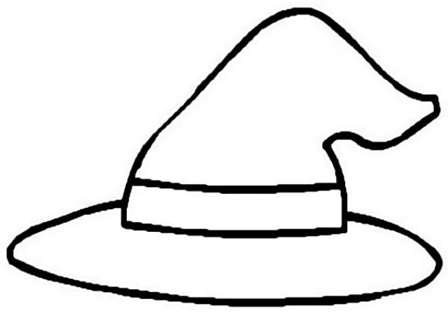 Witch Hat coloring #2, Download drawings