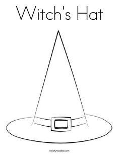 Witch Hat coloring #16, Download drawings