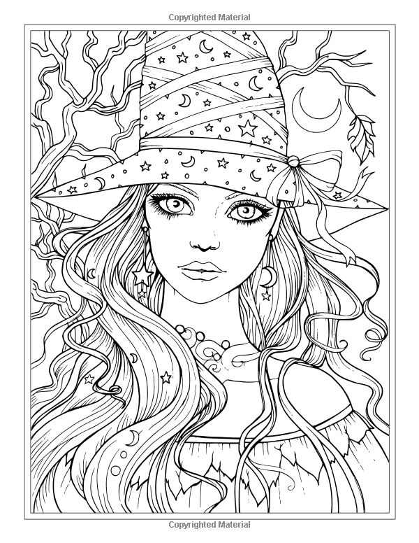 Witchcraft coloring #2, Download drawings