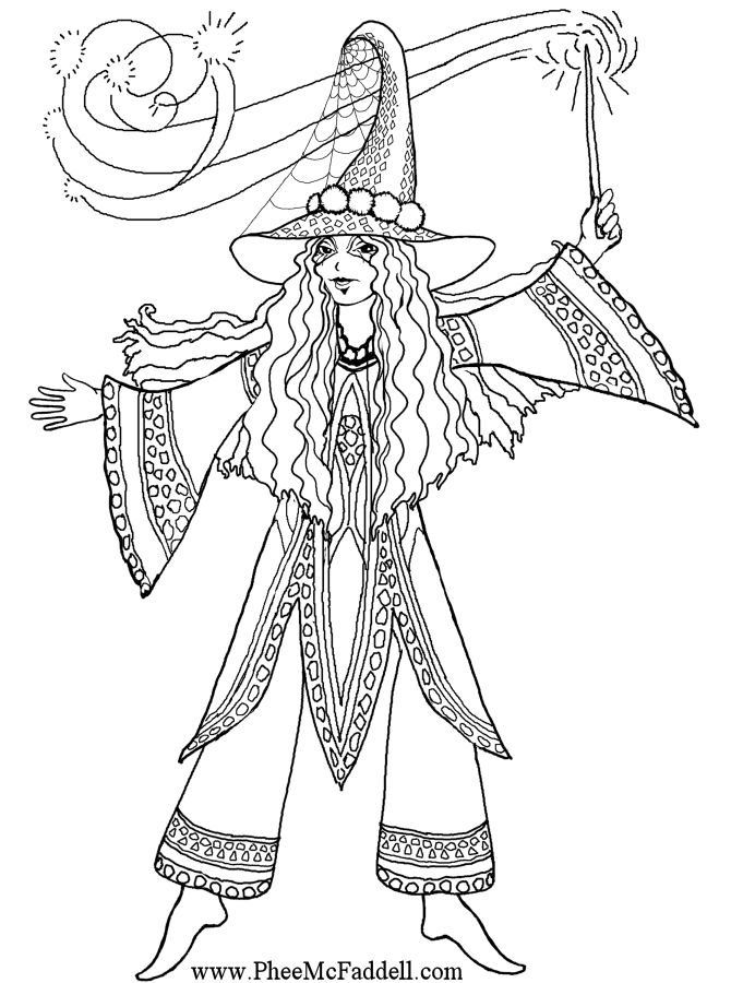 Witchcraft coloring #3, Download drawings