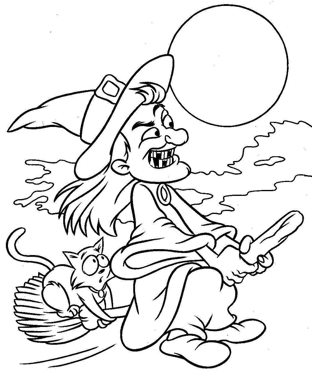 Witchcraft coloring #19, Download drawings