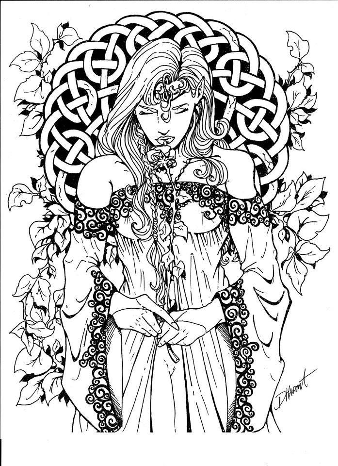 Witchcraft coloring #7, Download drawings