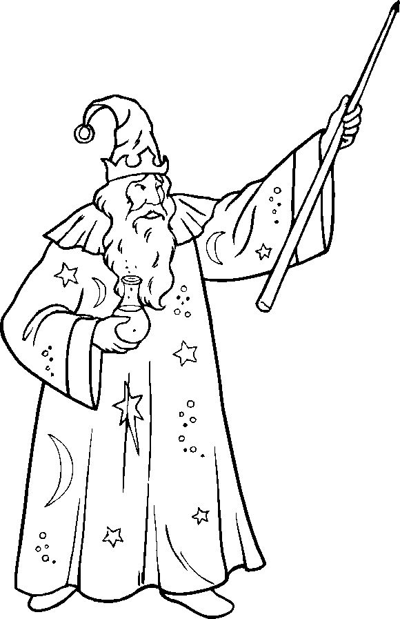 Wizard coloring #2, Download drawings