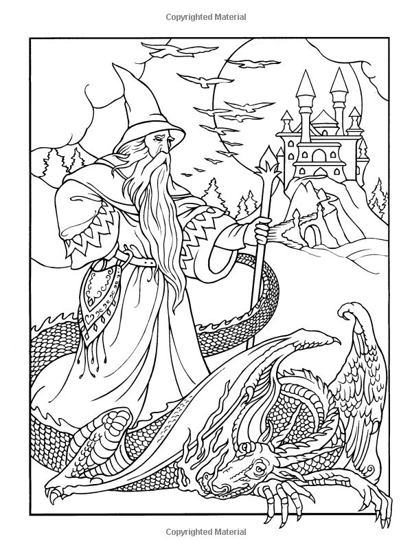 Wizard coloring #1, Download drawings