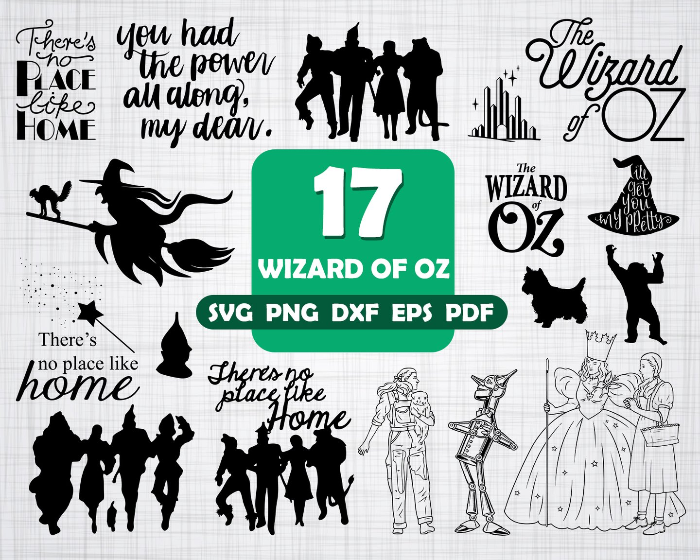 wizard of oz svg #1180, Download drawings