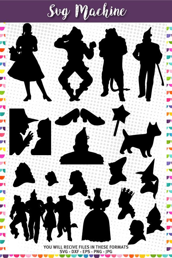 wizard of oz svg #1163, Download drawings
