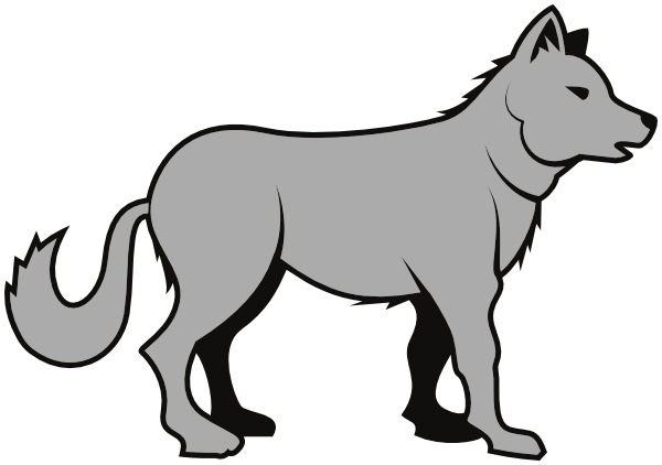 Wolf clipart #6, Download drawings