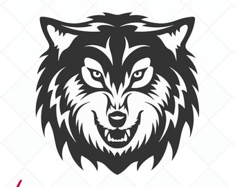 Wolf svg #150, Download drawings