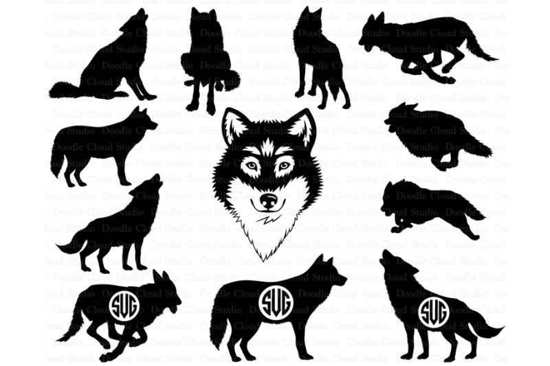 wolf svg free #446, Download drawings