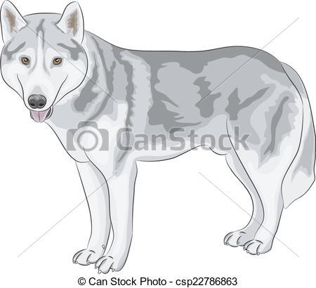 Wolfdog clipart