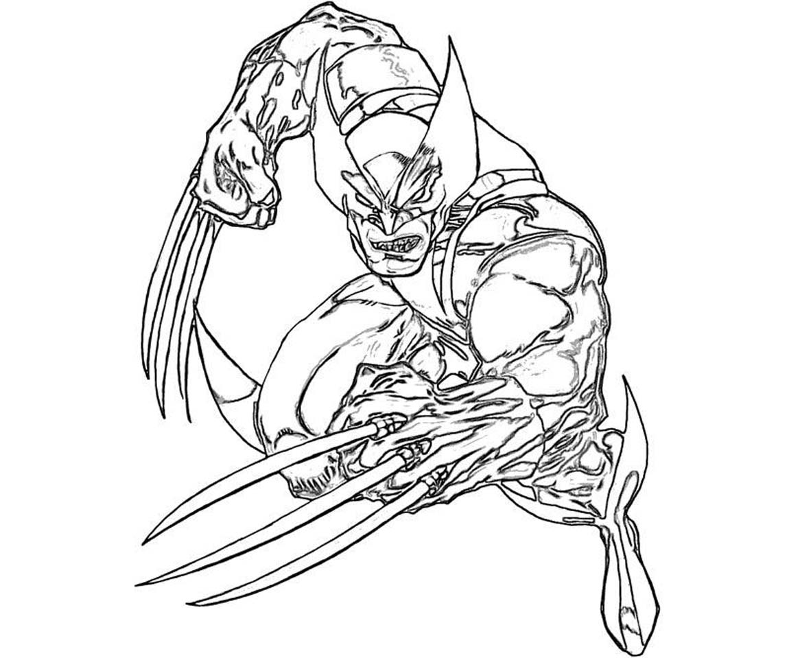 Wolverine coloring #15, Download drawings