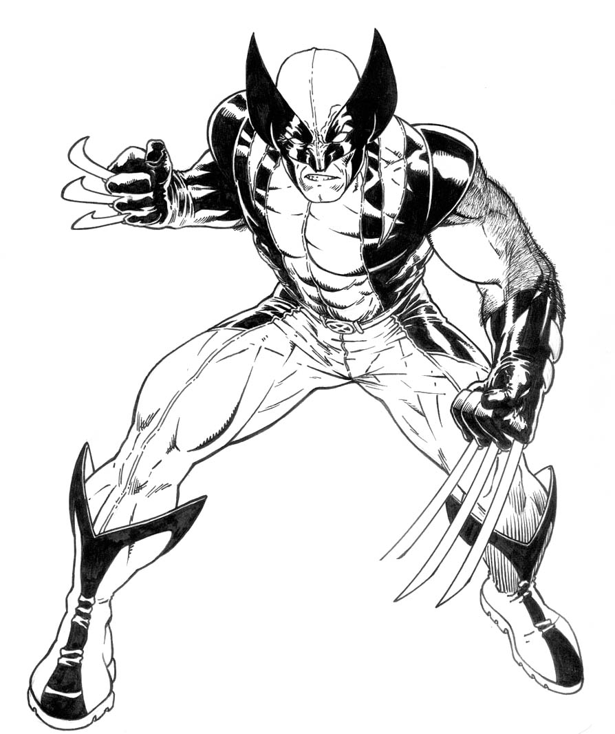 Wolverine coloring #2, Download drawings