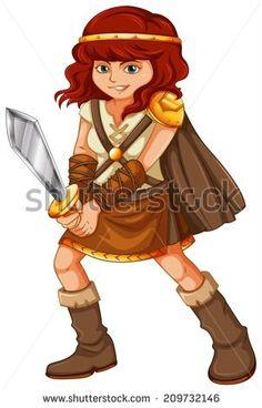 Women Warrior clipart #8, Download drawings