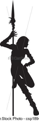 Women Warrior clipart #2, Download drawings