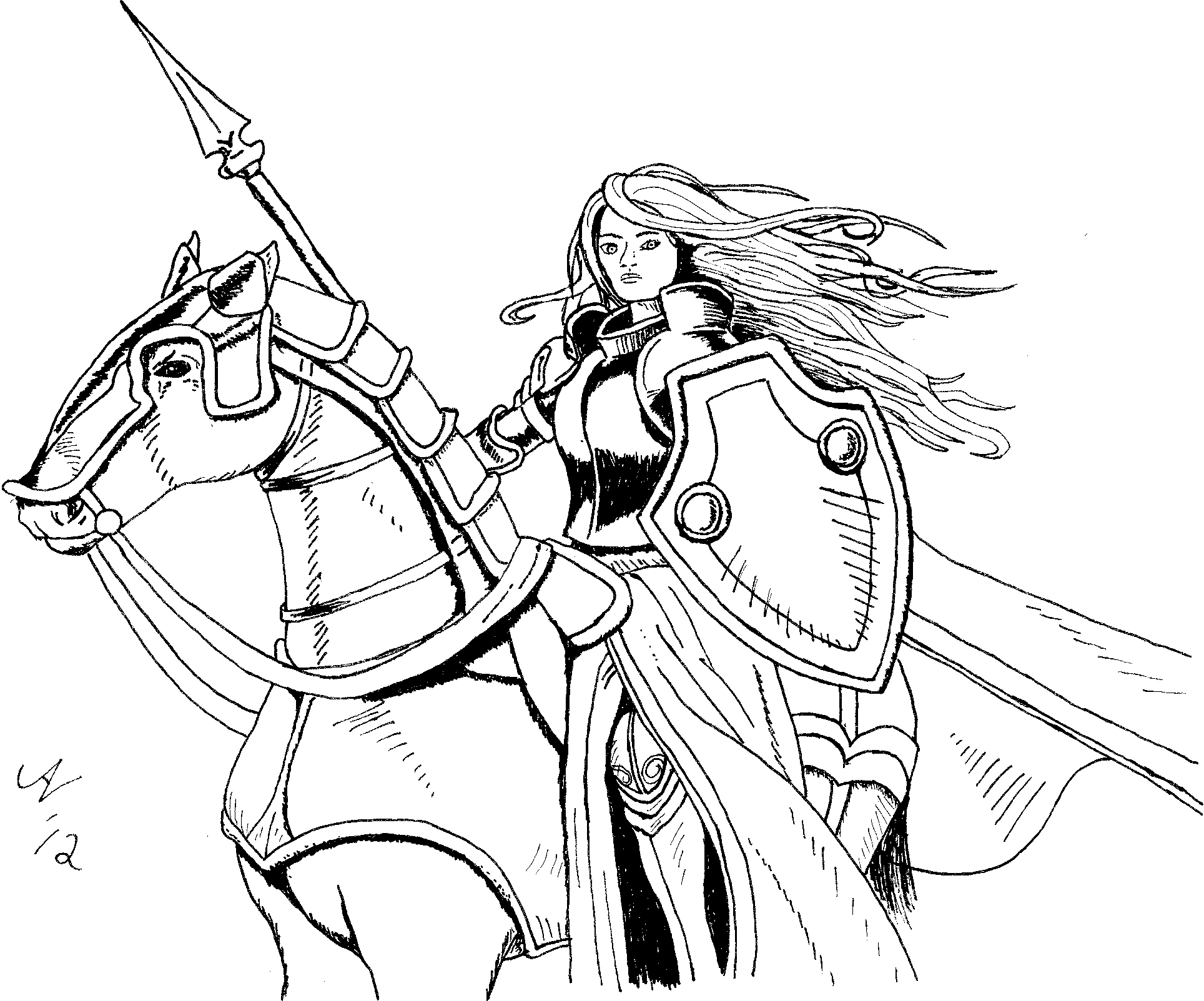 Woman Warrior coloring #10, Download drawings