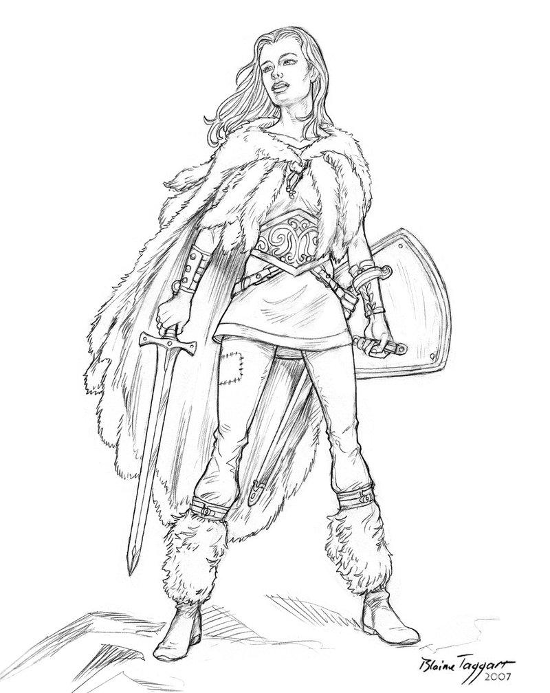 Woman Warrior coloring #4, Download drawings