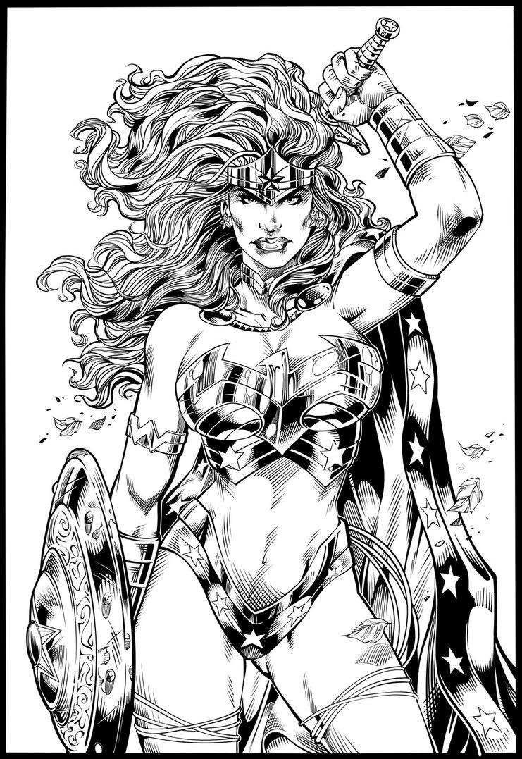 Woman Warrior coloring #2, Download drawings